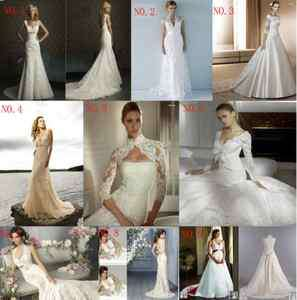 line/mermaid lace wedding bride dress prom gown lace up/zipper Sz