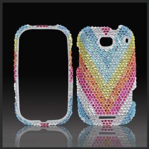 Rainbow V Cristalina crystal bling case cover for Motorola Bravo