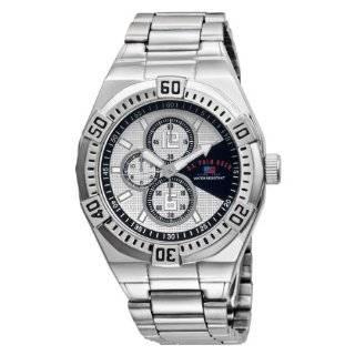 U.S. Polo Assn. Mens US5159 Silver Dial Black Strap Watch