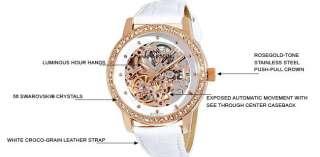 Anne Klein Womens 109154WTWT Automatic Swarovski Crystal Accented