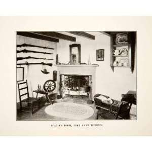 1930 Print Acadia House Fort Anne Annapolis Nova Scotia Canada Hearth