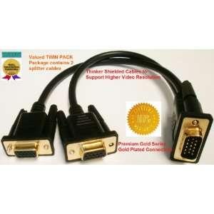 TWIN PACK (2 splitter cables) PTC Premium GOLD Series VGA