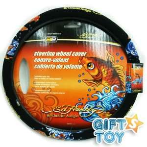 Ed Hardy Koi Fish Steering Wheel Cover Automotive
