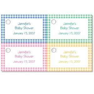 Baby Shower Favors Gingham Favor Tags Health & Personal