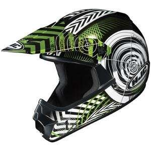 XY WANTED YOUTH/CHILD/KIDS MX OFFROAD DIRT HELMET GREEN/BLACK LARGE/LG