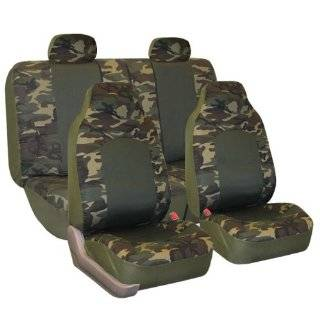 FH FB108114 Camouflage Car Seat Covers, Airbag compatible and Split