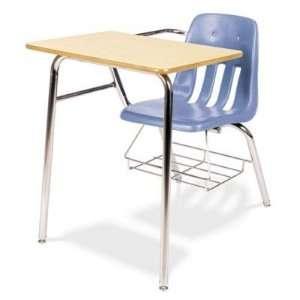 9400 Classic Series Chair Desks, Blueberry, Fusion Maple
