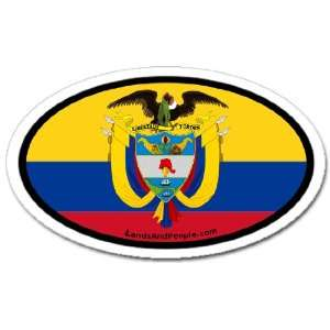Colombia Colombian Flag Car Bumper Sticker Decal Oval Automotive