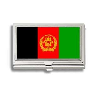Afghani Flag Business Card Holder Metal Case Office Products