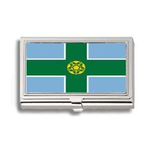 Derbyshire Uk Flag Business Card Holder Metal Case