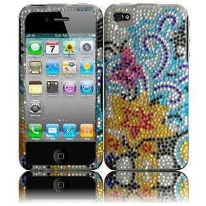 CDMA GSM Full Diamond Cover   Yellow Lily Hard Case Cell Phones