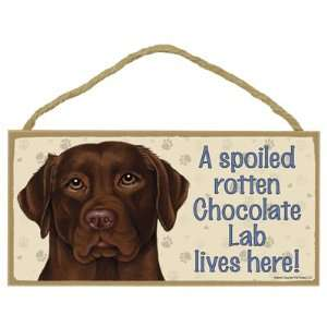 Dog Lives Here Decorative Wall Plaque Sign For Home