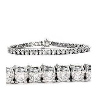 14K White Gold Diamond S Link Tennis Bracelet (1 cttw, J K Color, I2