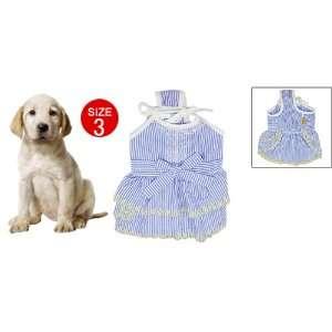Como Pet Dog Stripe Pattern Spaghetti Strap Dress Size 3