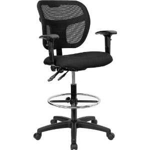 Flash Furniture Mid Back Mesh Drafting Stool w/Black
