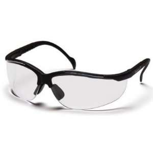Pyramex SB1810S Venture II Safety Glasses Clear Lenses Black Frame