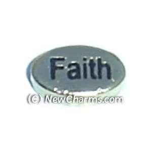 Faith Floating Locket Charm Jewelry