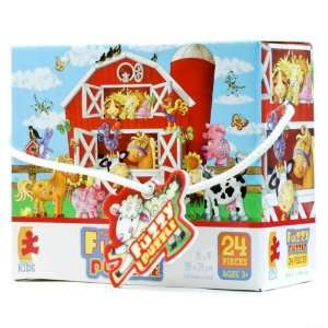 The Fuzzy Puzzle Farm Animals Toys & Games
