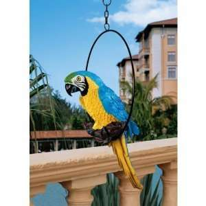 Exotic Parrot Sculpture Home Garden Statue Figurine