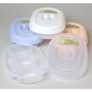 Compartment Oval Food Storage Container Case Pack 36
