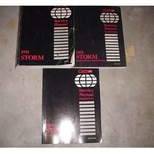 1991 Chevrolet Chevy Geo Storm Service Manual Set Oem