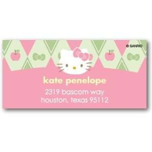 Address Labels   Hello Kitty Argyle Charm By Sanrio