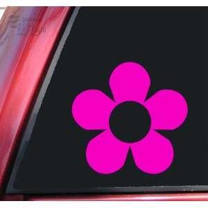 Flower #2 Vinyl Decal Sticker   Hot Pink Automotive