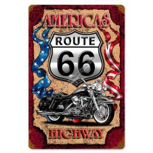 Highway   Custom Hotrod Motorcycle Pinup Girl Sign: Home & Kitchen