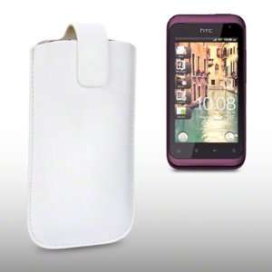 HTC RHYME PU LEATHER CASE, BY CELLAPOD CASES WHITE