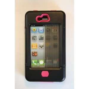SharkEye Cases iPhone 4 case black w/ pink accents  SC RC