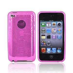 CIRCLE HOT PINK for iPod Touch 4 Crystal Silicone Case