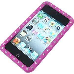 Rhinestones Skin Cover for iPod touch (4th gen.) Hot Pink Electronics