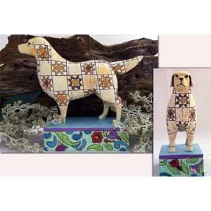 Jim Shore Golden Retriever Statue Figurine