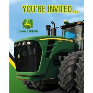 John Deere Birthday Party Invitations, 8 Count Toys & Games