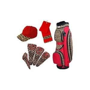 Glove It Ladies 4 Piece Golf Cart Bag Combos   Leopard