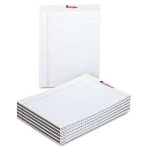 com Universal  Perforated Edge Writing Pad, Wide/Margin Rule, Letter