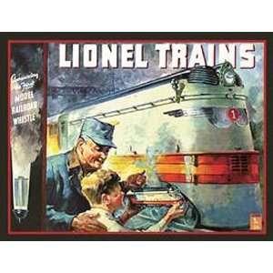 RAILROAD Lionel Train Metal Tin Sign 1935 Cover