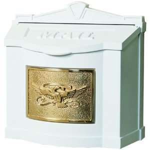 Gaines Eagle Design Wall Mount Mailbox With Locking Insert