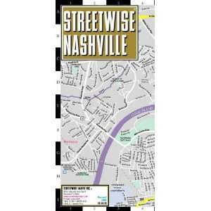 Streetwise Nashville Map   Laminated City Center Street Map
