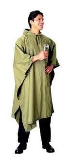 Military Style Rain Poncho Olive Drab Clothing