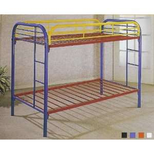 tube twin / twin bunk bed set available in Black Blue Red White and
