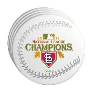 MLB St. Louis Cardinals 2011 National League Champions 4 Pack Coasters