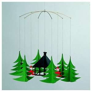 Flensted Mobiles Pixies in the Xmas Forest Baby