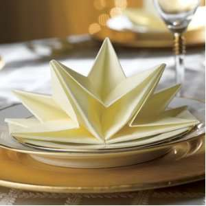 FancyNap Luxury Star Folds Star Elegant Pre Folded Napkins