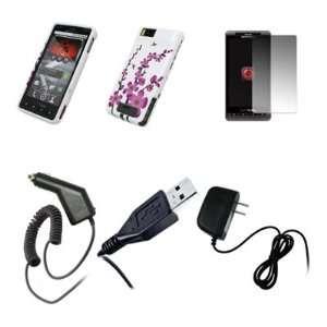 Motorola Droid X MB810   Premium White and Pink Spring Flowers Design