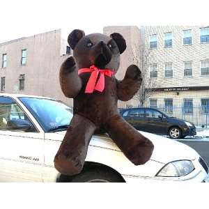 PLUSH DARK BROWN COLOR CLASSIC STUFFED ANIMAL TEDDY BEAR GIANT STUFFED
