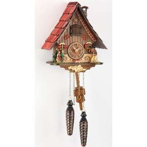 Quartz Cuckoo Clock Black forest house, incl. batteries TU 466 Q