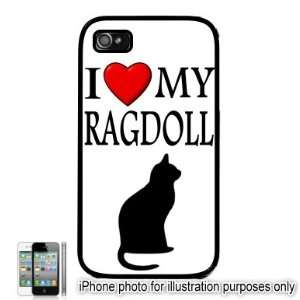 Ragdoll I Love My Cat Apple iPhone 4 4S Case Cover Black