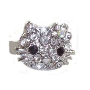 Hello Kitty Crystal Ring with Clear Crystal Bow   Size