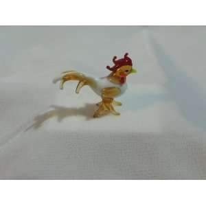 Collectibles Crystal Figurines Golden Milky Rooster